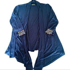 FLEURETTE DARK BLUE CARDIGAN L
